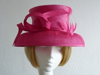 Country Casuals Ascot hat Hot Pink Loops and feathers